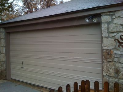 Tulsa Midtown Bungalow Garage Door Paint