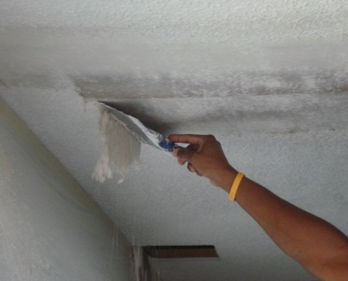 Scraping Popcorn Ceiling