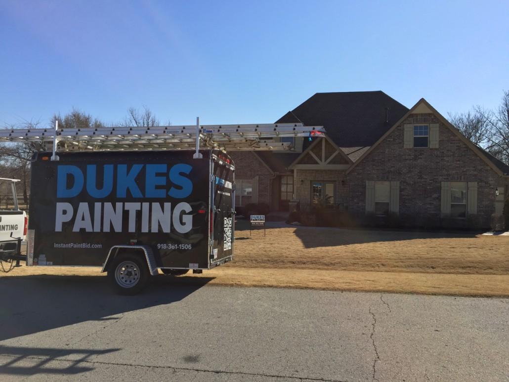 Dukes Painting Exterior Trailer