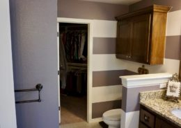 Large Horizontal Striped Master Bathroom